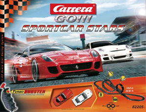 Carrera 62205 GO! Sports Car Stars race set 1/43 scale