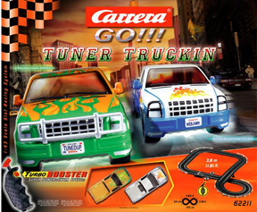 Carrera 62211 GO! Tuner Truckin' race set 1/43 scale