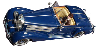 Top Slot 7103 Mercedes-Benz 540K, 1936, blue