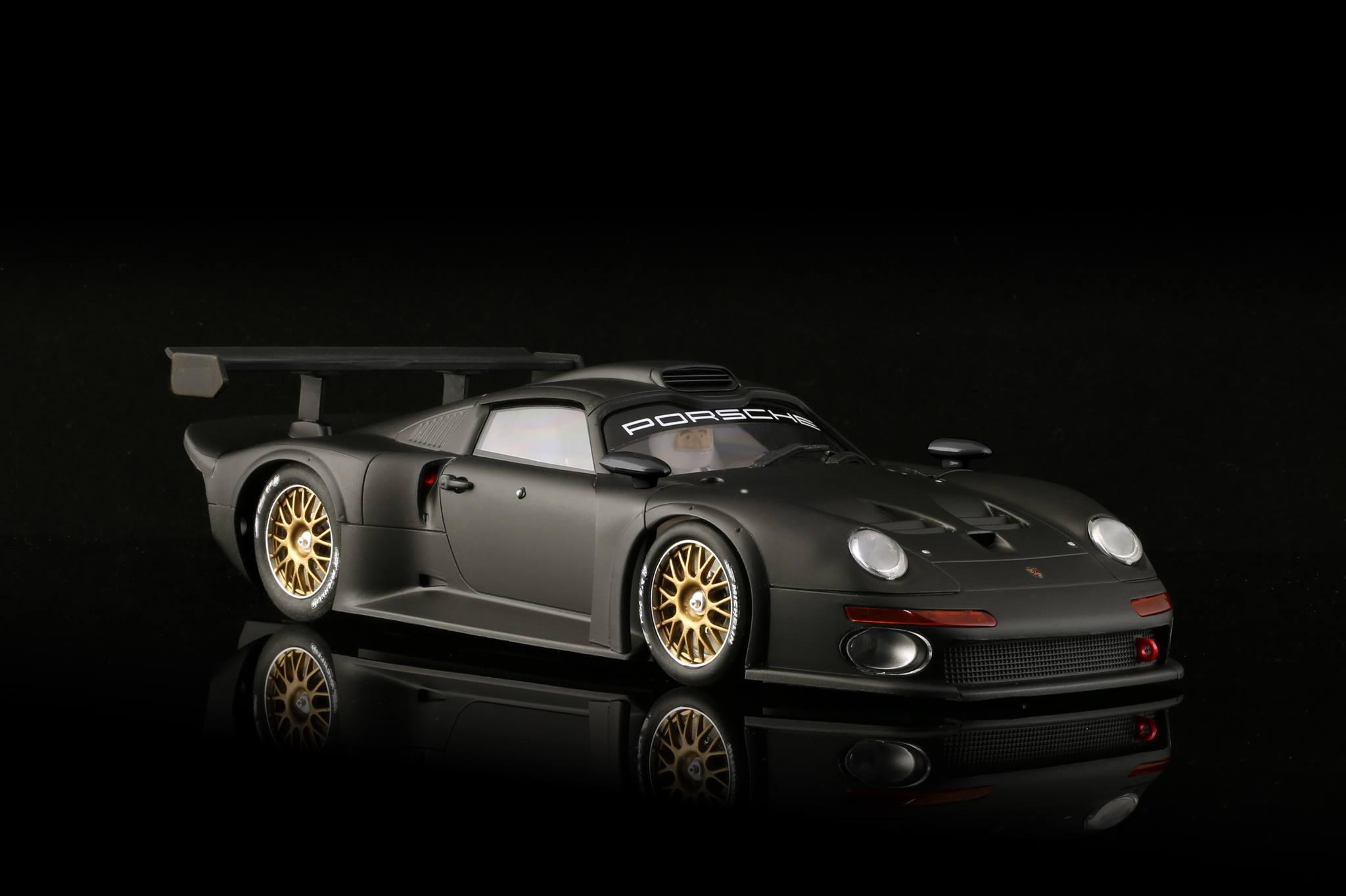 brm048 1 24 scale porsche 911 gt1 black limited edition. Black Bedroom Furniture Sets. Home Design Ideas