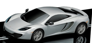 Scalextric C3157 McLaren MP4-12C road car, silver