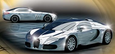 Scalextric C3169A Mercedes SLR/Bugatti Veyron