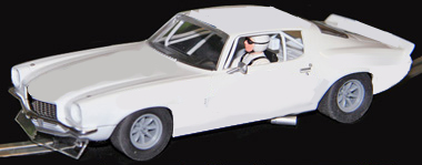 Scalextric C3245 1970 Camaro TransAm car, white