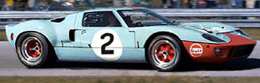 Scalextric C3324 Ford GT40 P1075, Daytona 1969