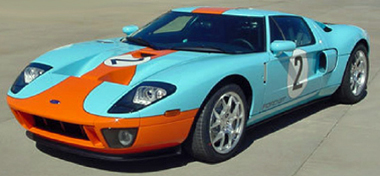 Scalextric C3324 Ford GT road car, Gulf colors