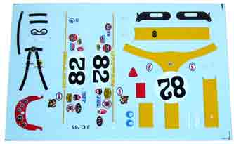 ODG117 Decals for Lotus 38 Jim Clark 1965 Indy 500 winner