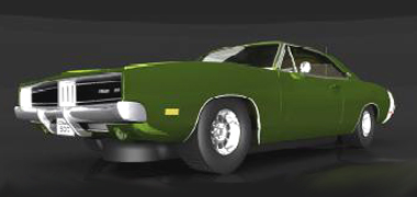 Scalextric C3064 Dodge Charger, green