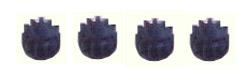 W8200 Sidewinder pinion gears, 11t, plastic, pk. of 4
