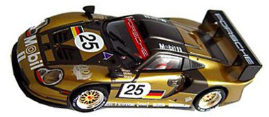 fly porsche 911 gt1 evo review fly 1 32 porsche 911 gt1 evo 25 metallic gold mobil 1 slot car. Black Bedroom Furniture Sets. Home Design Ideas