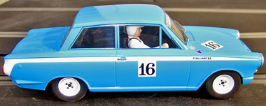 Scalextric C3307 Ford Lotus Cortina, 2011 historic