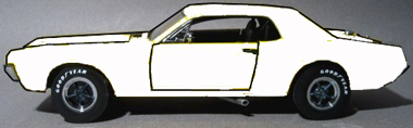 Scalextric C3443 Mercury Cougar, all white
