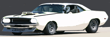Scalextric C3444 Dodge Challenger, all white