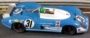 Proto Slot CB071P Matra 660 LeMans 1970 painted body kit