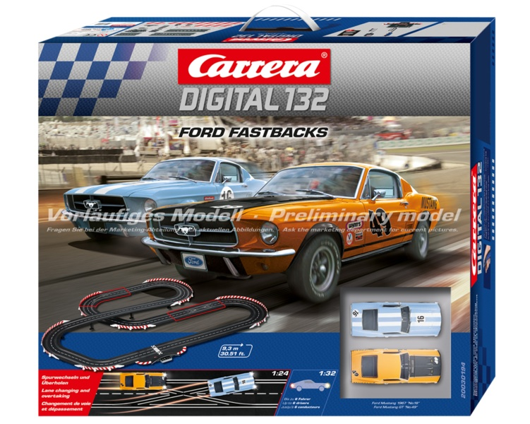 carrera 30194 ford fastbacks race set 30194. Black Bedroom Furniture Sets. Home Design Ideas