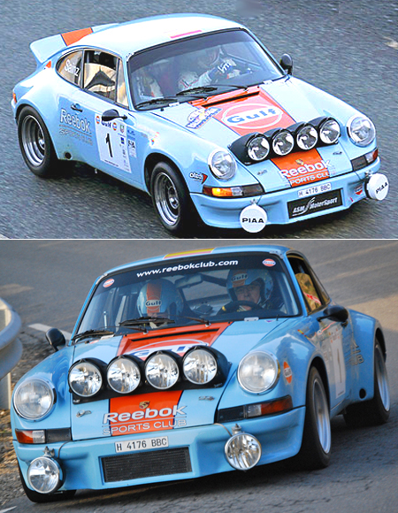 Fly 036104 Porsche 911 vintage rally car, Gulf