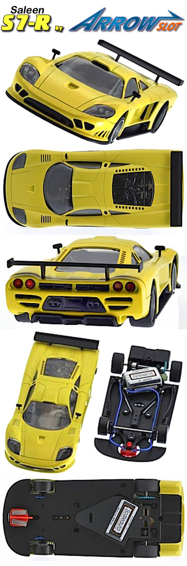 Arrow Slot 1001C Saleen S7R kit, yellow