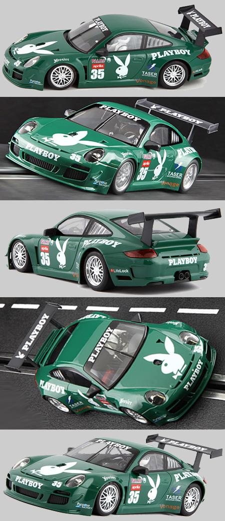 NSR 1153AW Porsche 997 #35 green, Playboy, Daytona 2007