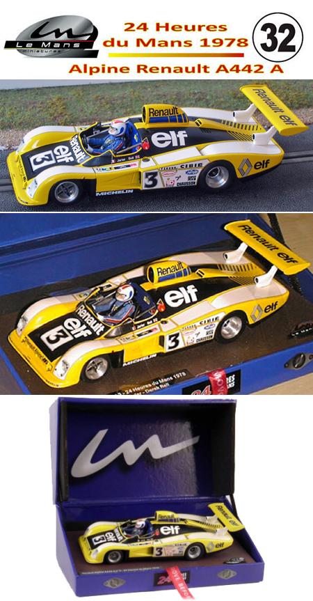 LeMans Miniatures 132038/3M Alpine Renault A442A, LeMans 1978 #3