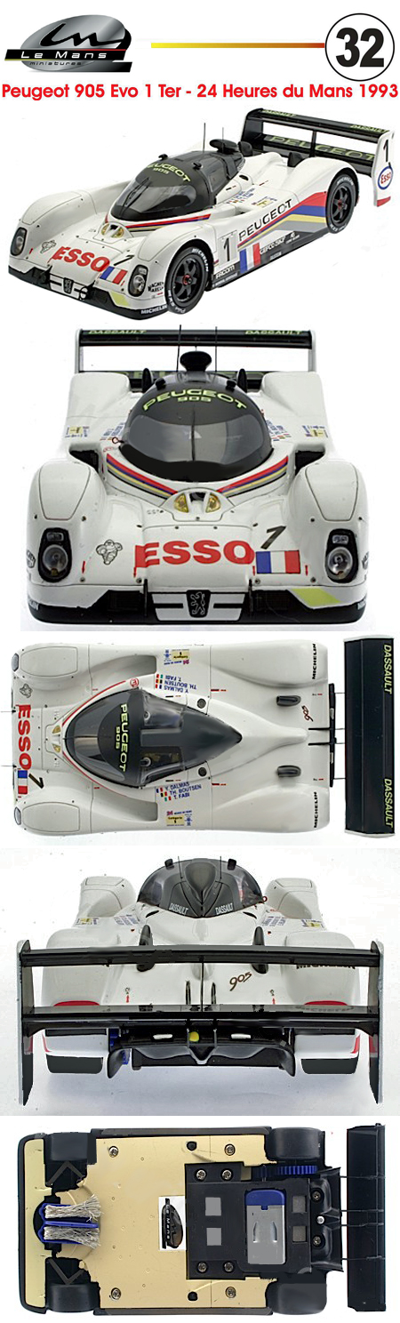 LeMans Miniatures 132041/1M Peugeot 905 #1 , LeMans 1993