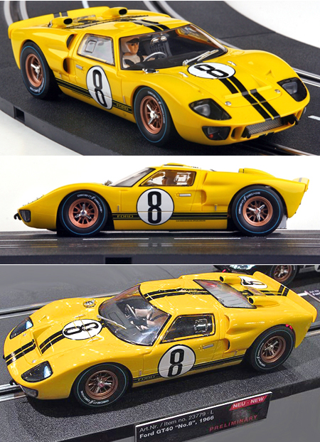 Carrera 23779 Ford GT40 MkII, Yellow #8 1966, Digital124