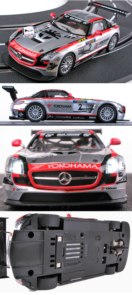 Carrera 30551 Mercedes SLS GT3 Black Falcon, D132