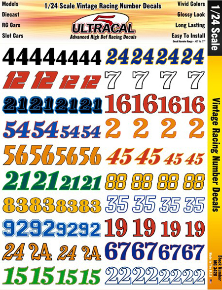Custom Racing Numbers  Race Lettering Kits  Car Decals