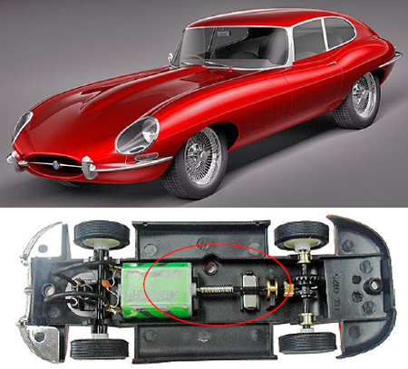 Ninco 50579 Jaguar E-type (XKE) coupe