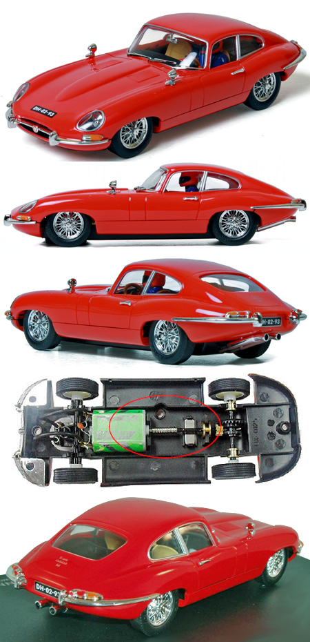Ninco 50579 Jaguar E-type (XKE) coupe, red