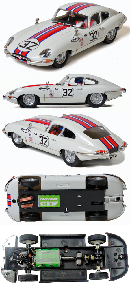 Ninco 50596 Jaguar E-type (XKE) coupe, white