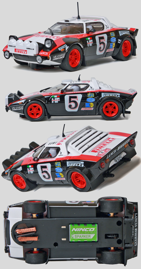 Ninco 50622 Lancia Stratos rally car, Pirelli