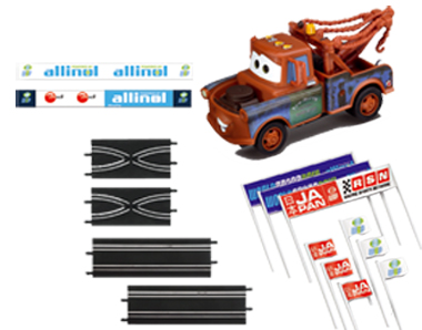 Carrera 61652 GO! Mater accessory set, Cars 2, 1/43 scale