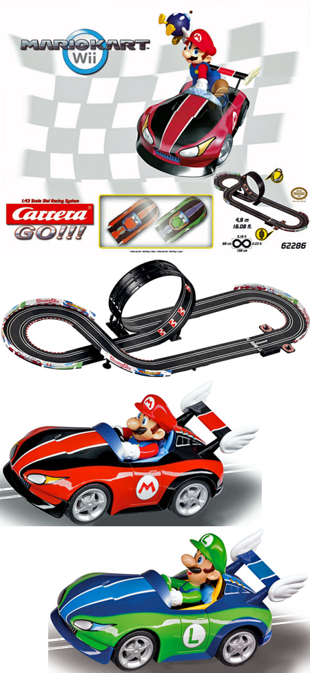 Carrera 62286 GO! Mario Kart Wii race set, 1/43