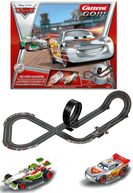 "Carrera 62301 GO! ""Cars"" Silver Racers race set,"