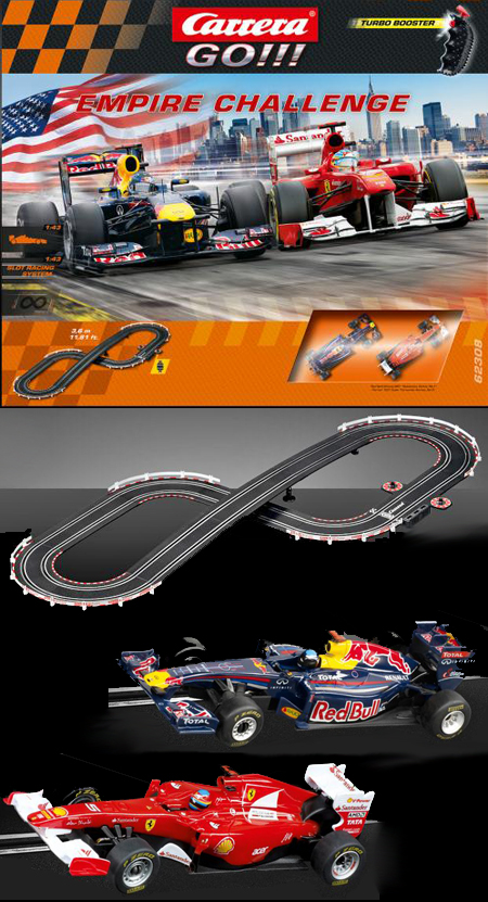 Carrera 62308 GO! Empire Challenge race set, 1/43 scale