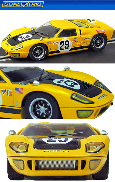 Scalextric C3211 Ford GT40 MkII, yellow/black