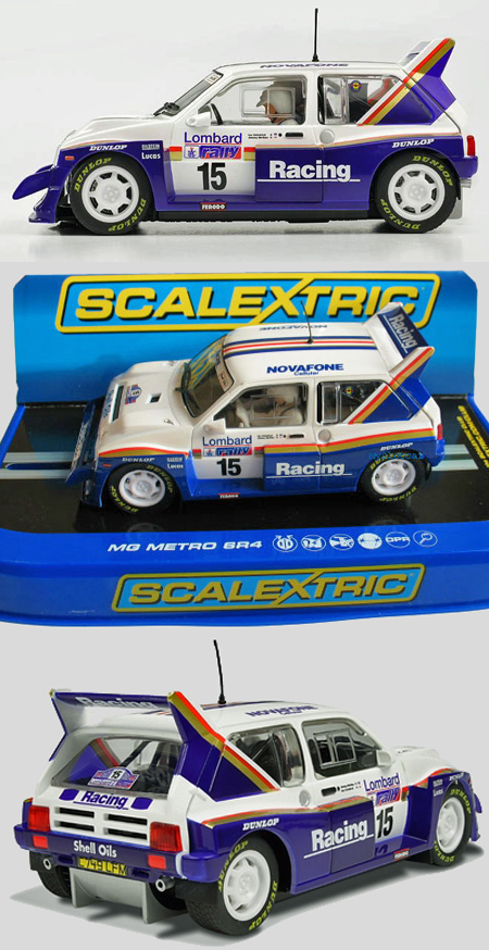 Scalextric C3408 MG Metro 6R4 Lombard Rally 1986