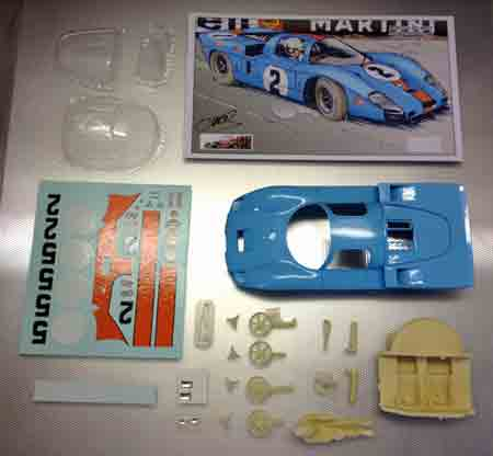 Proto Slot CB081P Mirage M2-BRM, Spa 1969, painted body kit