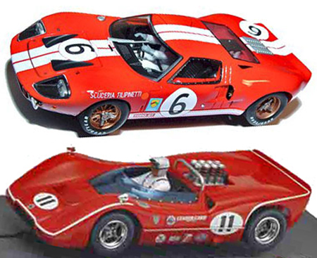 EDSET-17 McLaren M6B & Fly ford GT40 2-car pack