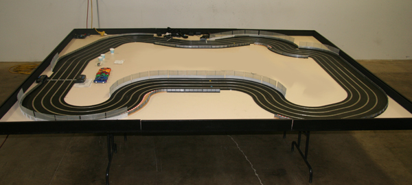 Slot car racing tables