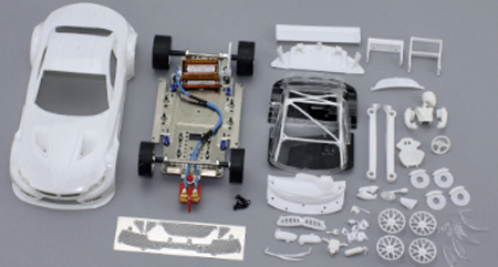 Scale Auto SC7031 BMW Z4 GT3 white kit, 1/24 scale