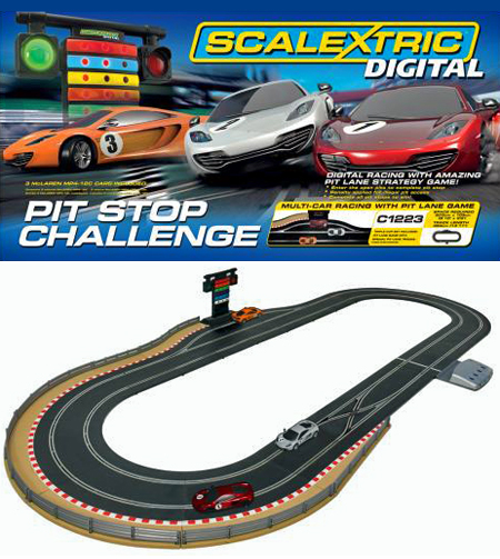 Scalextric C1296T Digital Pit Stop Challenge race set