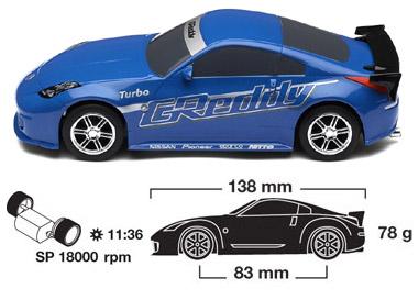 Scalextric Nissan Drift Car Blue C