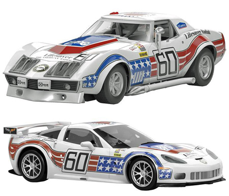 Scalextric C3368A Corvette 60th anniversary 2-car set
