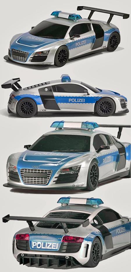 Scalextric C3374 Audi R8 police car