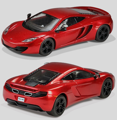 Scalextric C3396 McLaren Mp4-12C road car, red