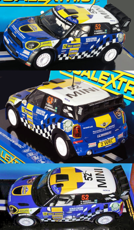 Scalextric C3401 BMW Mini Countryman Rally Sweden 2012