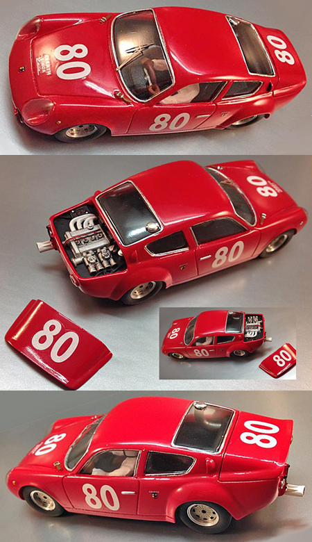 Proto Slot CB069/1P Abarth-Simca 200TC, red, painted body kit