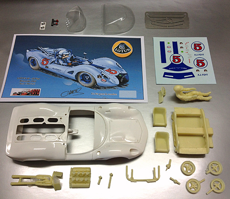 Proto Slot CB072/2P Lotus 40, A.J. Foyt, Riverside 1965 painted body kit