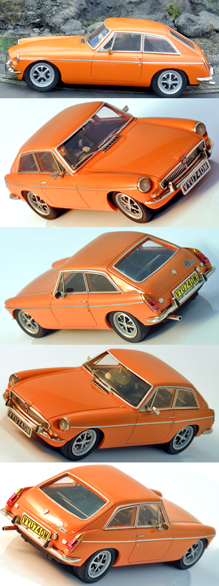 Slot Classic CJ40 MGB GT orange road car