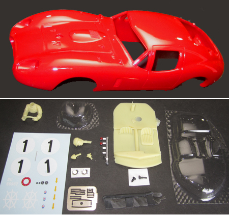 MMK 49A-PK Costin Maserati 450S coupe with headlight detail, painted body kit